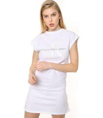 vestido blanco calvin klein doon true icon dress