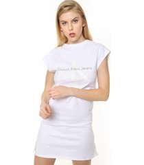 vestido blanco calvin klein doon true icon dress