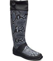 tokyo aero snake foldable regnstövlar skor svart viking
