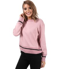 only womens nanna knit mix crew sweatshirt size 10 in pink