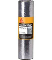 fita asfáltica sika multiseal s, auto adesiva, alumínio - 50 cm x 10 metros
