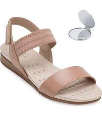 sandália modare ultra conforto e espelho md20-71132 - feminino