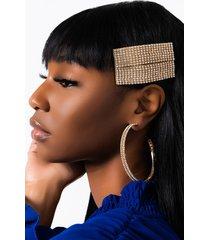 akira chunky rhinestone hair clip set