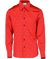 regular-fit printed silk & cotton sport shirt