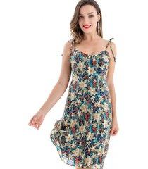 vestido floral pabilo azul nicopoly
