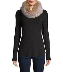 fox fur convertible headband-scarf