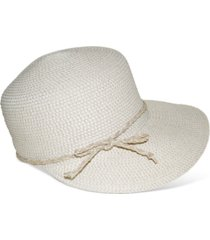 nine west ivory packable classic braid framer hat