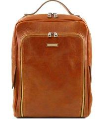 tuscany leather tl141793 bangkok - zaino porta notebook in pelle miele