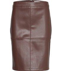sc-beckie knälång kjol brun soyaconcept