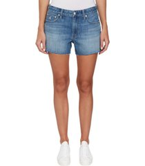 jeans shorts denim azul calvin klein
