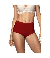 calcinha calça clássica virtuel demillus 57498 carmim vermelho