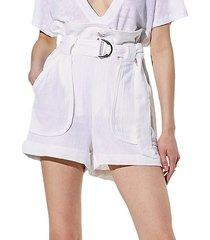 lux high-waist paperbag shorts