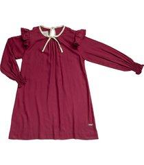 vestido vinotinto estilo rosa vica
