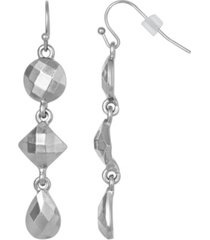 2028 silver-tone linear drop earring