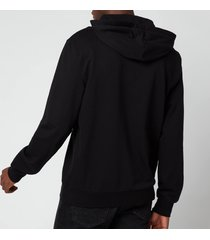 emporio armani men's iconic terry hooded sweatshirt - black - xxl