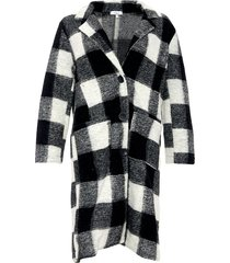 noella noella emily coat black/white checks