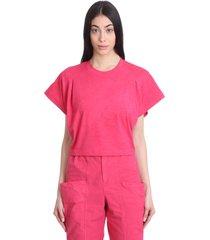 isabel marant zinalia t-shirt in bordeaux cotton