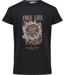 t-shirt tiger zwart