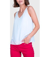 blusa ash top con encaje beige - calce regular
