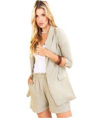 blazer adulto femenino caqui marketing  personal