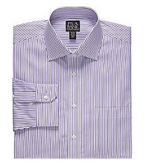 traveler collection traditional fit spread collar stripe dress shirt - big & tall, by jos. a. bank