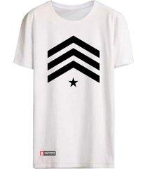 camiseta vinteseis army - sargento branca