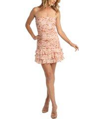 bardot remi floral fit & flare dress
