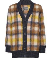 blanka knit cardigan stickad tröja cardigan multi/mönstrad mos mosh