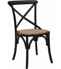 conjunto 02 cadeiras katrina preta rivatti