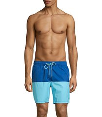 colorblock perfect-fit swim shorts