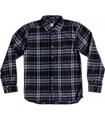 camisa marsha manga larga franela azul dc