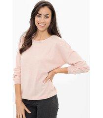 sweater rosa etam bordado
