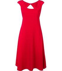 aspesi classic fit-and-flare midi dress - red