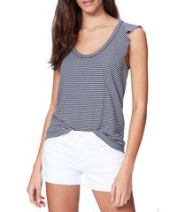 women's paige jemima stripe ruffle shoulder tank top