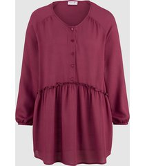 blus dress in fuchsia
