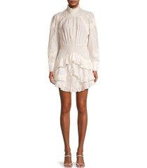 iro women's neven smocked ruffle dress - white - size 38 (6)