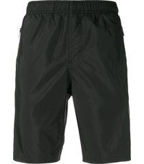 givenchy lace detail swim shorts - black