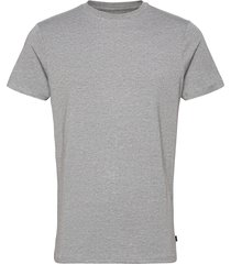 bamboo r-neck tee t-shirts short-sleeved grå resteröds
