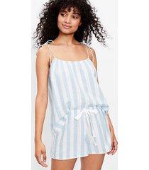 loft striped bow strap pajama cami