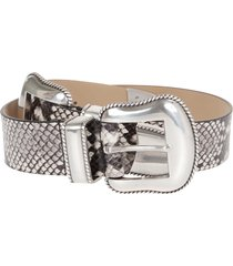 b-low the belt cintura rouge python