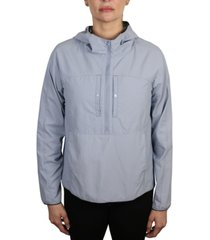 women's anorack pop over jacket with snap front chest pockets