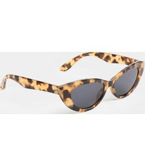 katie 90's slim cat eye sunglasses - tortoise