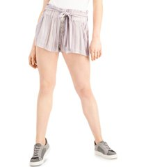 rewash juniors' striped tie-waist shorts