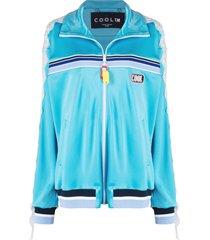 cool t.m lace-appliqué track jacket - blue