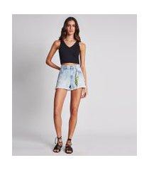 lez a lez - shorts jeans rio chaveiro jeans