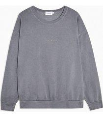 mens grey wash berlin sweatshirt