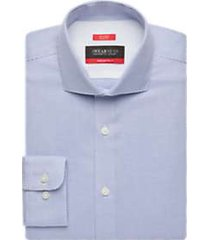 awearness kenneth cole awear-tech cole blue mini check slim fit dress shirt