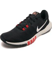 tenis training negro-rojo-blanco nike flex control tr4