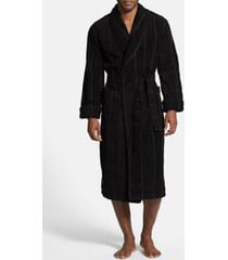 men's majestic international ultra lux robe, size small/medium - black