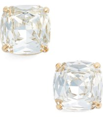 kate spade new york small stud earrings in clear crystal/gold at nordstrom